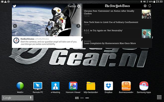 Samsung Galaxy Note 12.2 Home