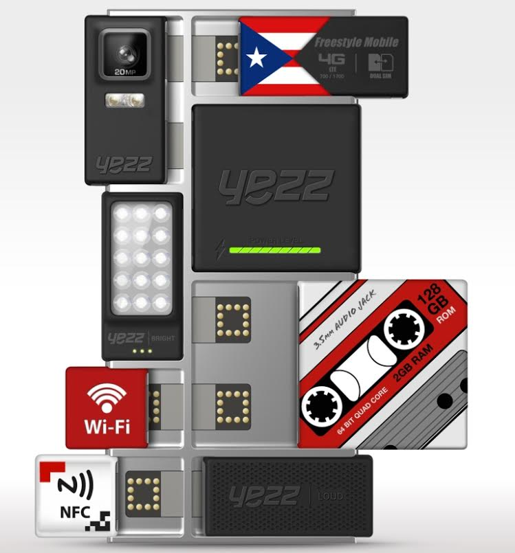 YEZZ Project Ara Opties