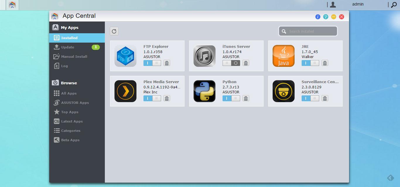 Asustor-App-Central
