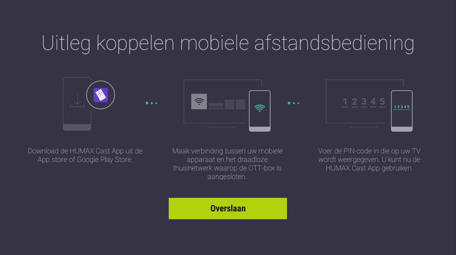 Humax TV+ app koppelen