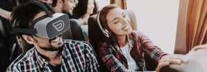 VR headset in Flixbus