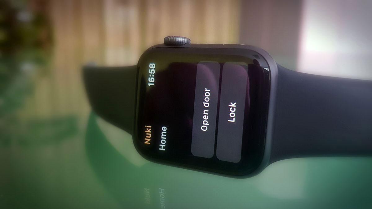 Nuki app op de Apple Watch