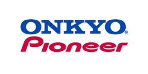 Logo's van Onkyo en Pioneer