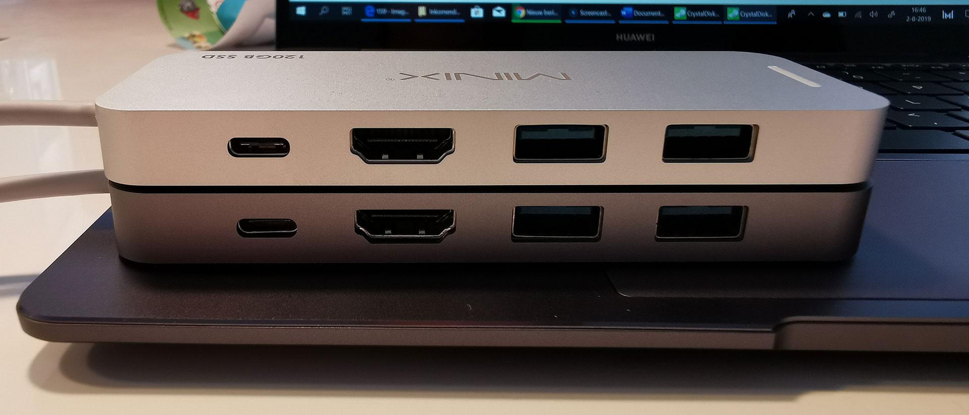 Minix USB-C Multiport Storage Hub Kleuren