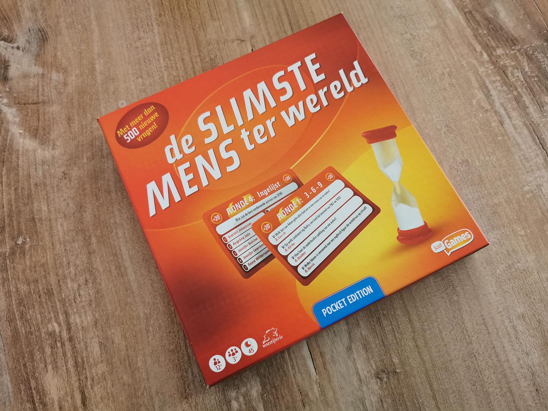 De Slimste Mens Pocket Edition Verpakking