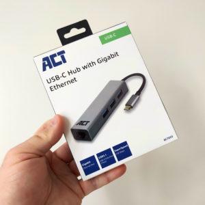 ACT USB-C Hub with Gigabit Ethernet AC7055 Verpakking