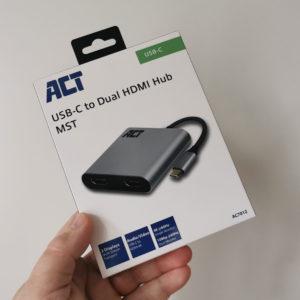ACT USB-C to Dual HDMI Hub MST Verpakking