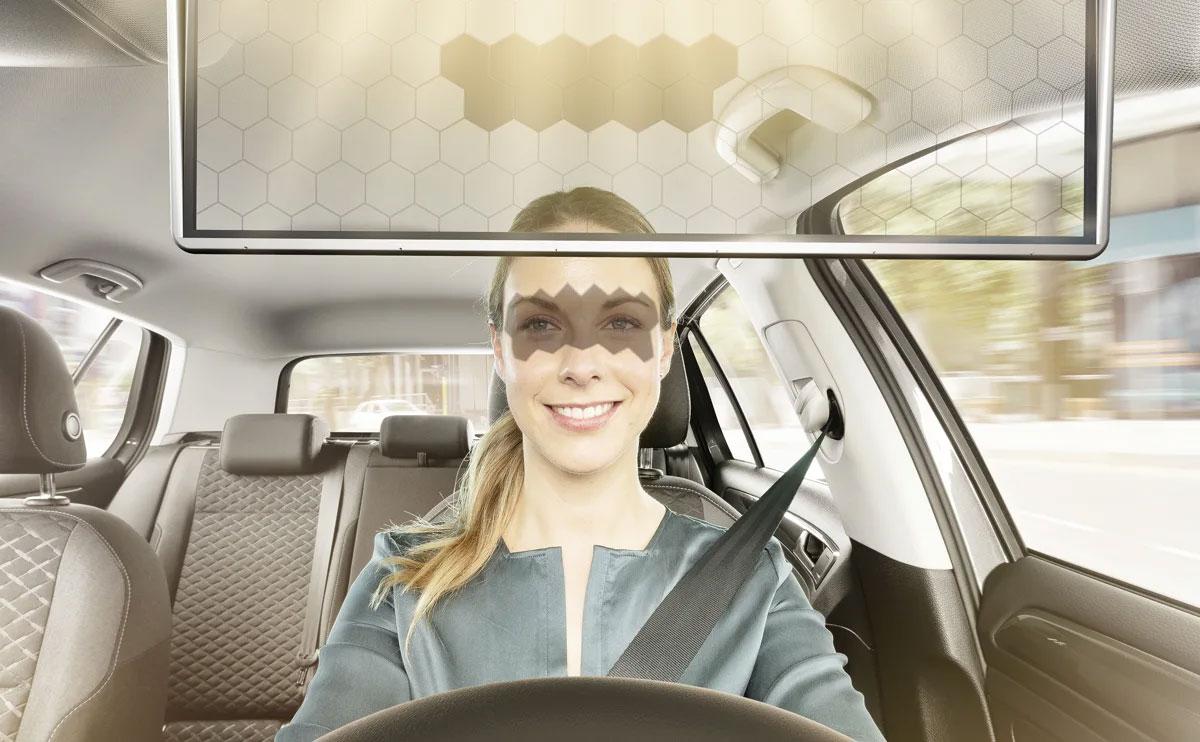 Virtual Visor met een vrouw