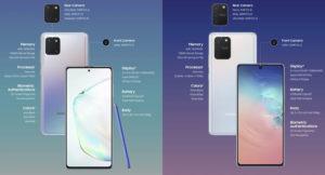 Specs Samsung Galaxy S10 Lite Galaxy Note10 Lite