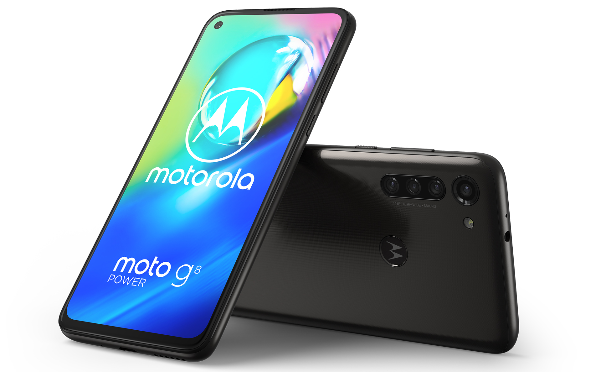 Motorola G8 Power Smoke Black uitvoering