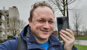 Arjan Olsder en de Samsung Galaxy S20 Ultra