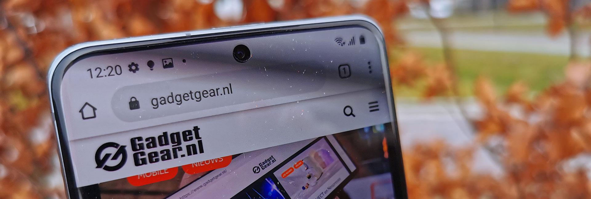 De selfie camera van de Samsung Galaxy S20 Ultra