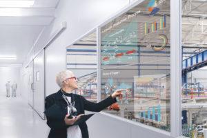Transparant LG OLED display