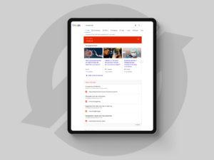 Corona pagina van Google op een Apple iPad Pro 2018