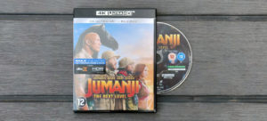 Cover Jumanji: The Next Level op 4K Blu-Ray