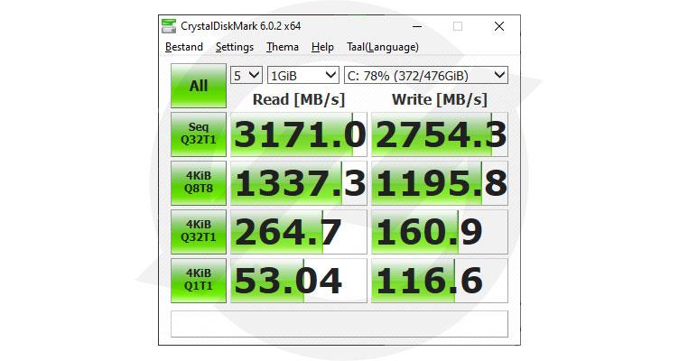 Crystal Diskmark x64 Kingston KC2500 1TB