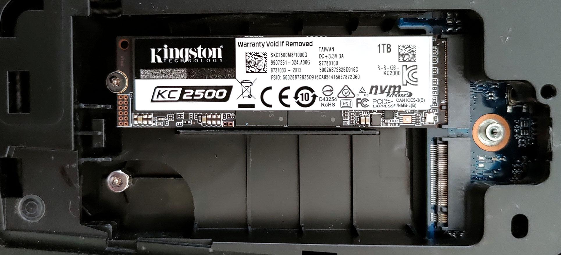Installatie van de SSD