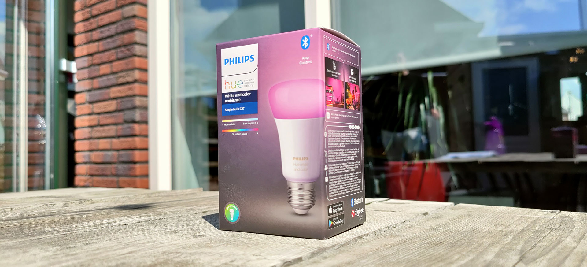Philips Hue White and Color E27 Lamp verpakking