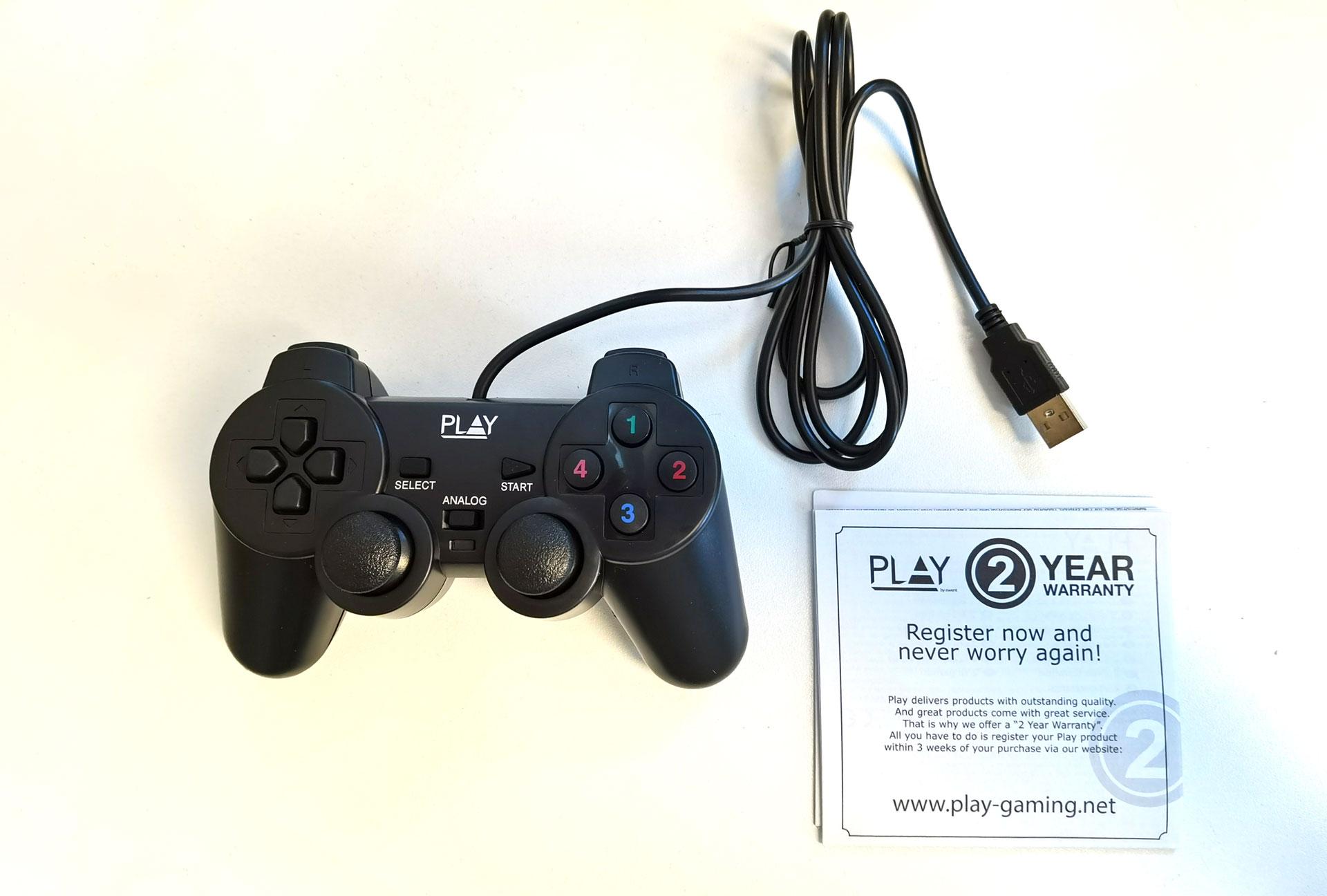De Play by Ewent Wired USB Gamepad uitgepakt