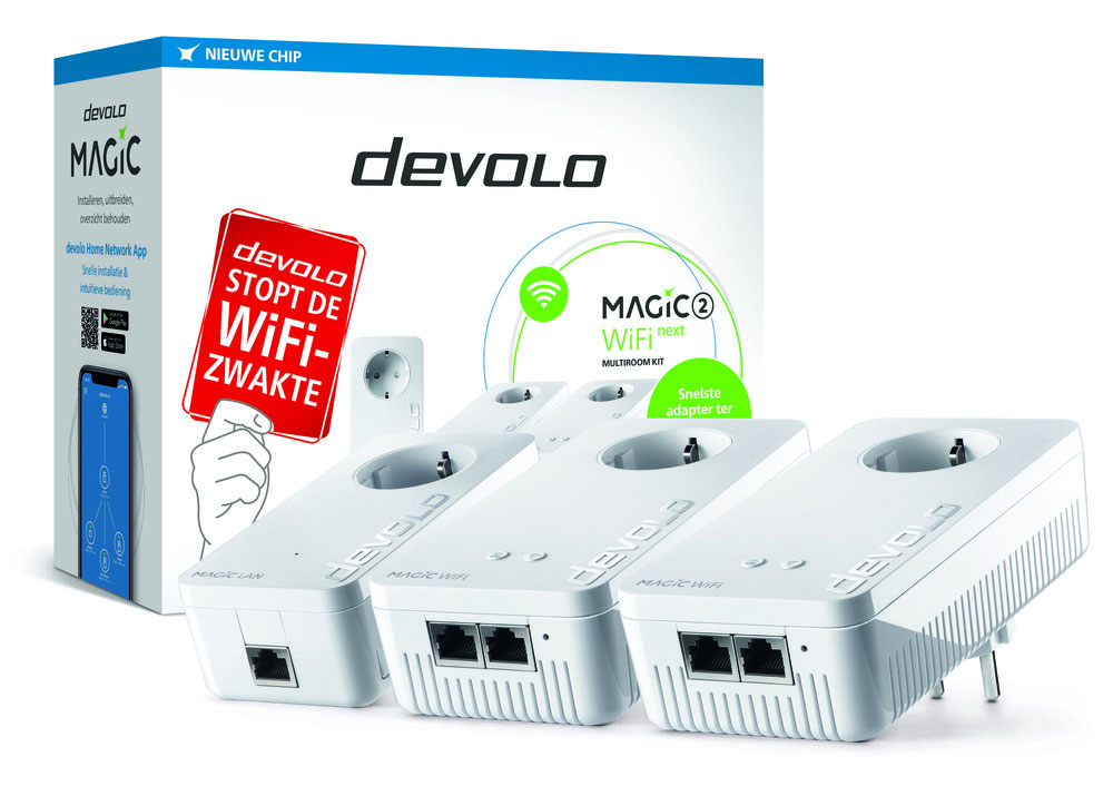Devolo Magic 2 Powerline Kit met drie adapters
