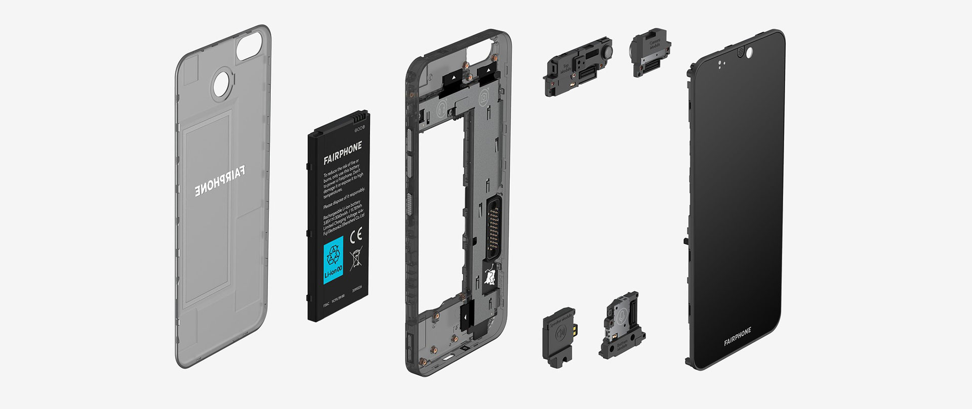 Fairphone 3 Exploded View