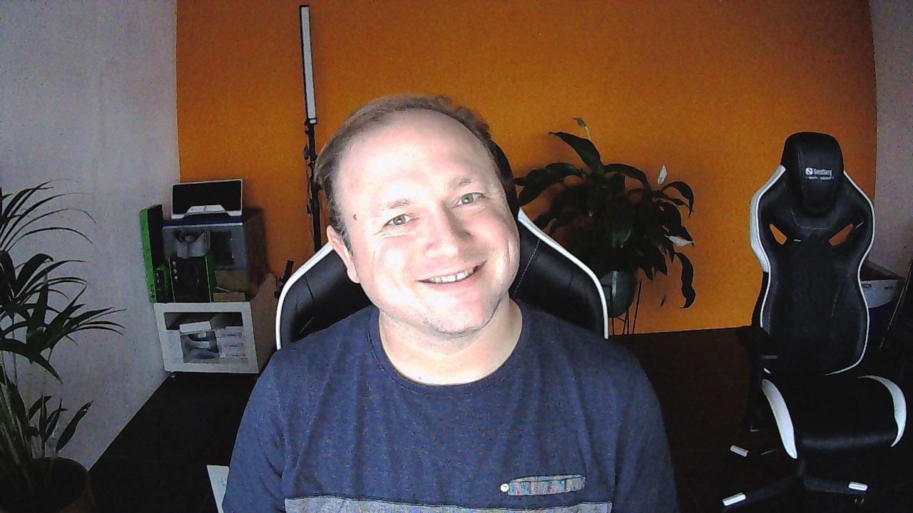 2 megapixel foto gemaakt met de webcam bij schemer