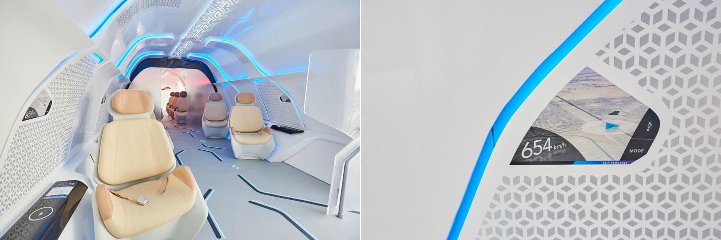 Virgin Hyperloop Interieur