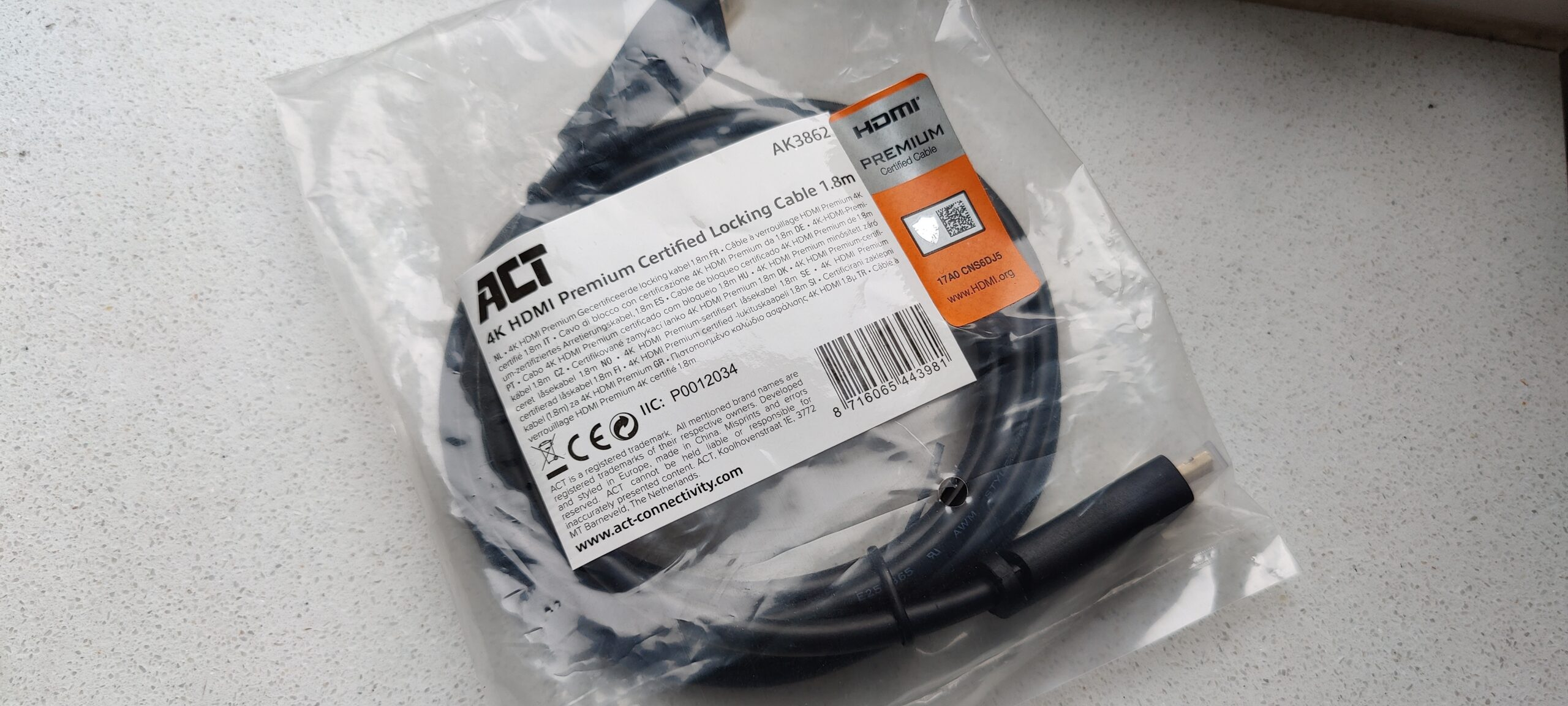 ACT HDMI Premium Certified Cable