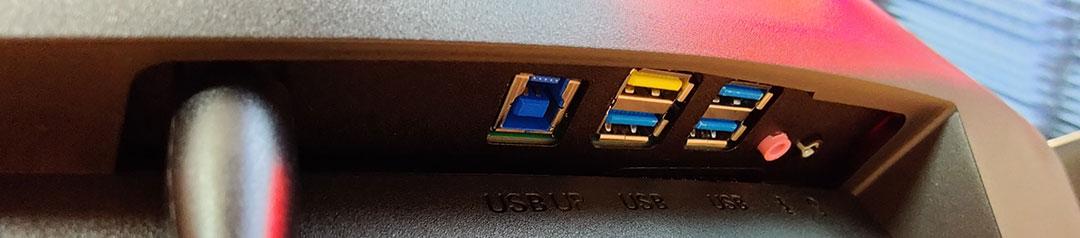 Porsche Design X AOC Agon PD27 Monitor USB Hub