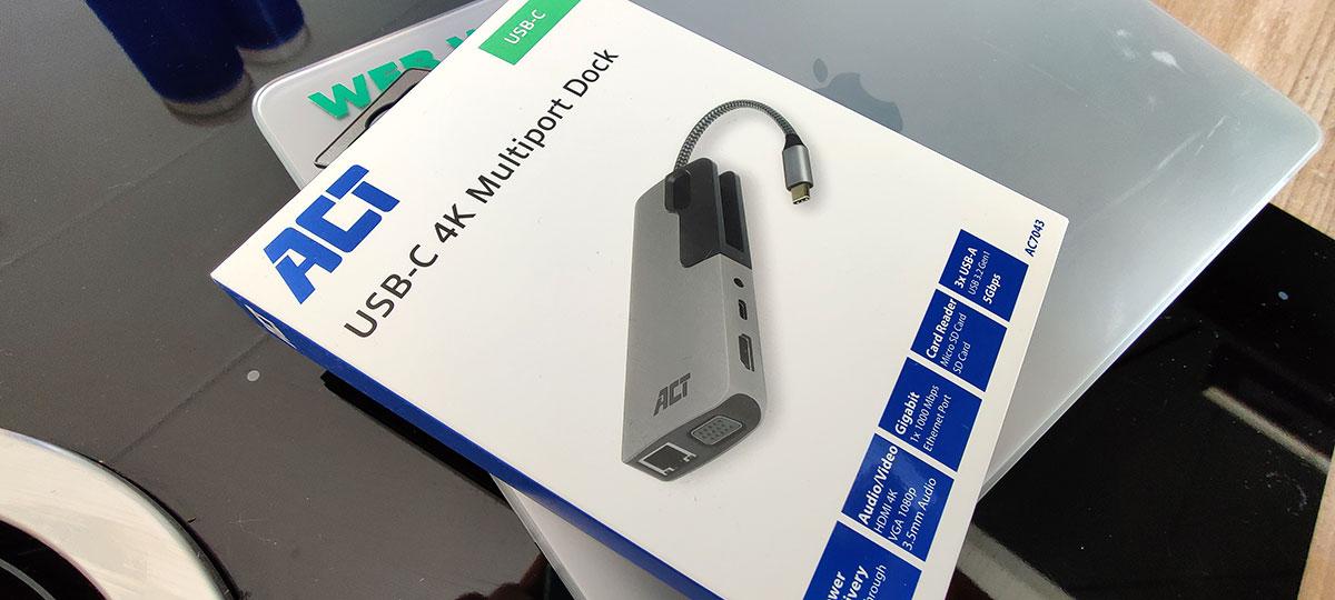 ACT USB-C 4K Multiport Dock AC7043 Verpakking