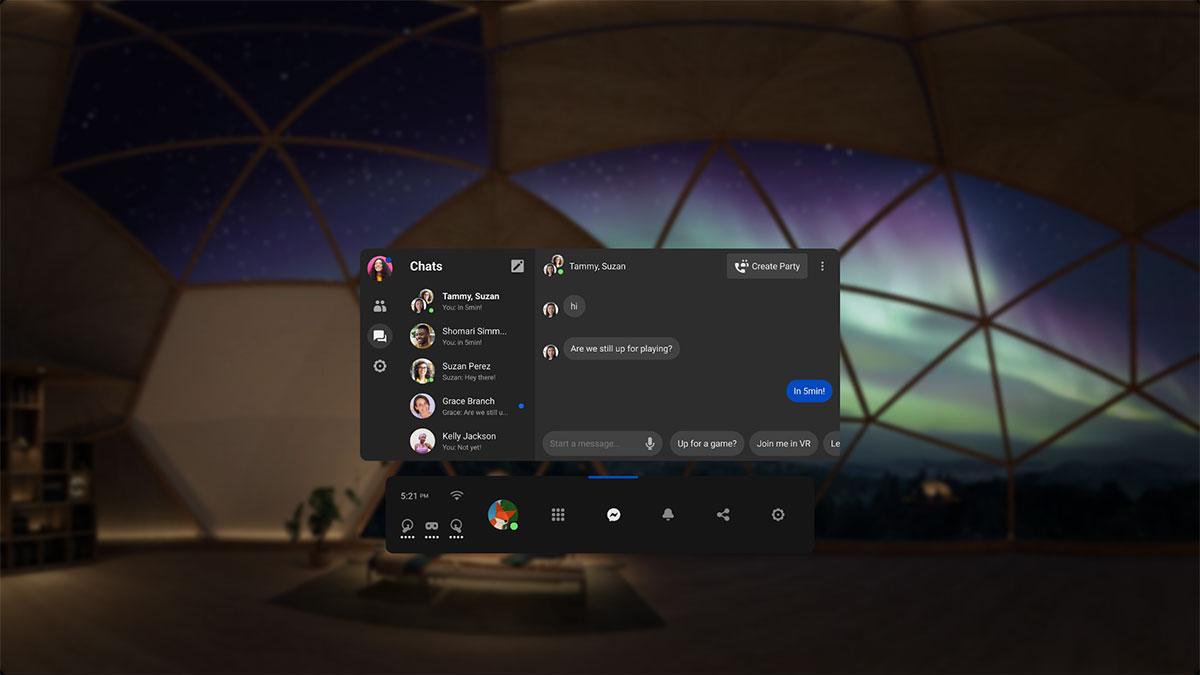 Oculus Quest Facebook Messenger App