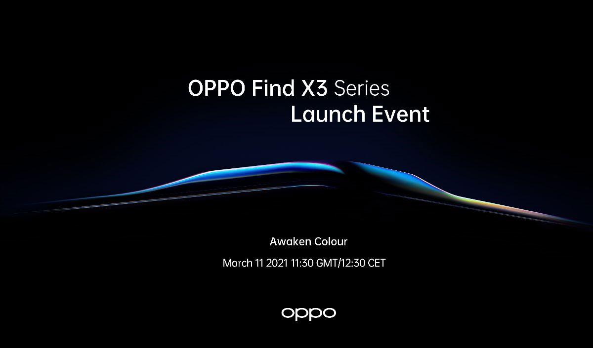 Oppo Find X3 Lancering